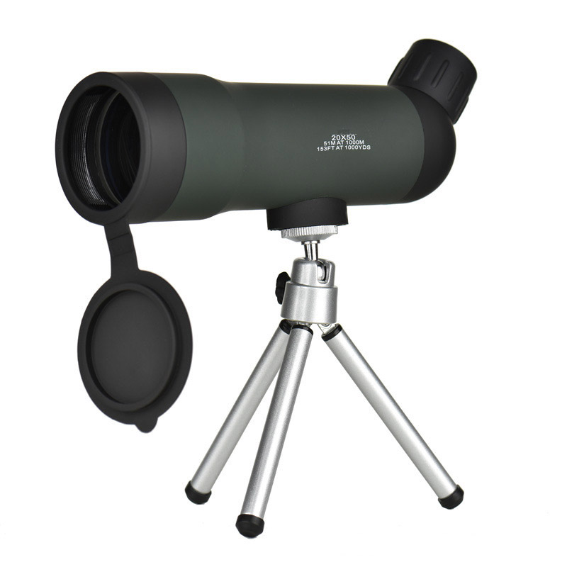 <font><b>20X50</b></font> <font><b>Monocular</b></font> High Power HD Green Film Optical Zoom Telescope For Hunting Outdoor Bird Watching Travel Scope with Tripod image