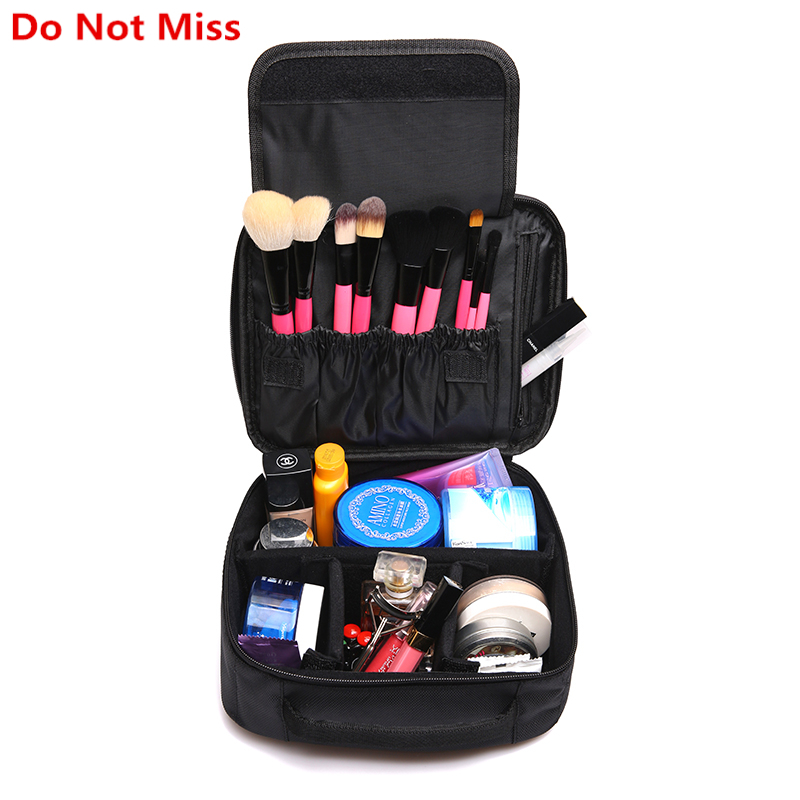 Do Not Miss Women Cosmetic Bag High Quality Travel Cosmetic Organizer Zipper Portable Makeup Bag Designers Trunk Make up bags do not miss women cosmetic bag high quality travel cosmetic organizer zipper portable makeup bag designers trunk make up bags