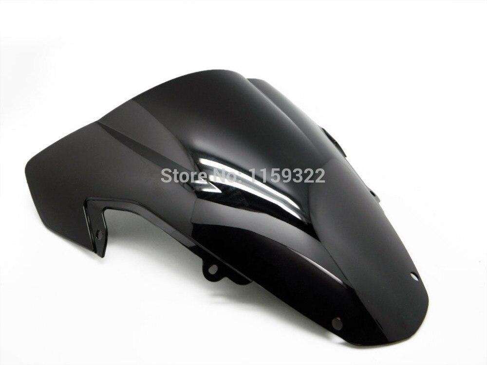 Мотоцикл части Бесплатная доставка Дым черный DOUBLE BUBBLE ветровое стекло для 2003-2004 SUZUKI GSX R 1000 Бесплатная доставка