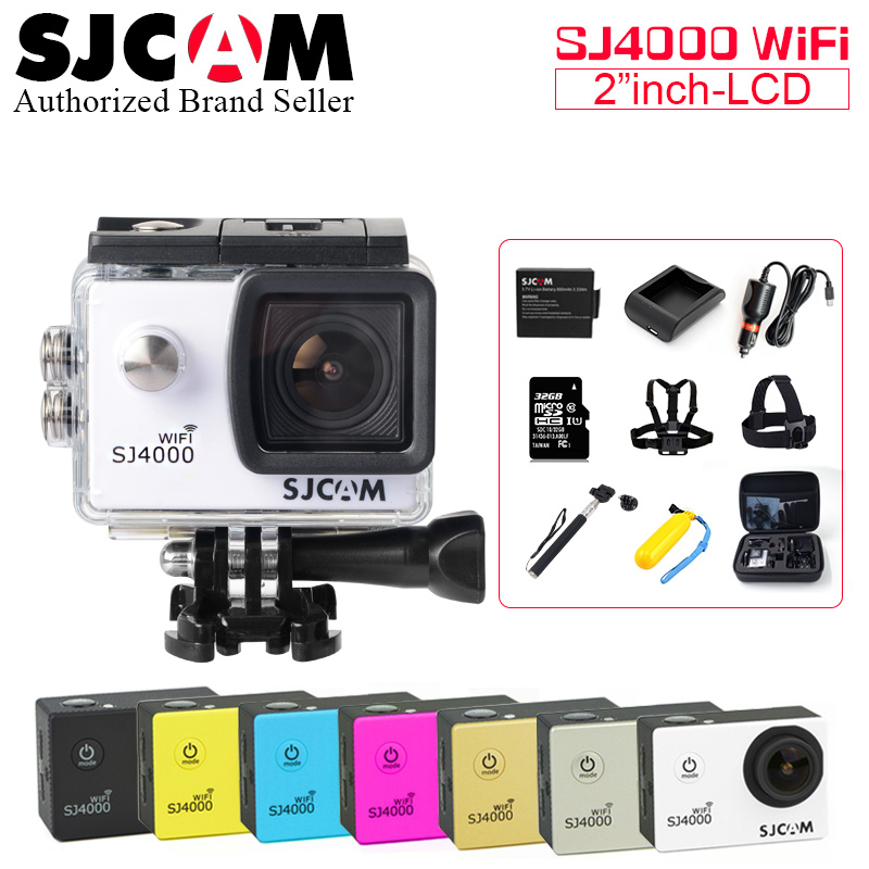 Action camera deportiva Original SJCAM SJ4000 WiFi Novatek 96655 WiFi 1080P HD go waterproof pro mini Camcorder SJ 4000 camera купить