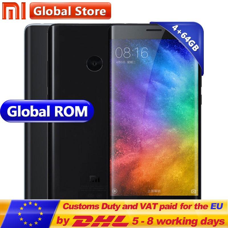 Оригинальный Xiaomi mi Note 2 ГБ 4 ГБ 64 мобильный телефон Snapdragon S821 ядра 5,7 дюймов FHD отпечатков пальцев ID mi UI 8