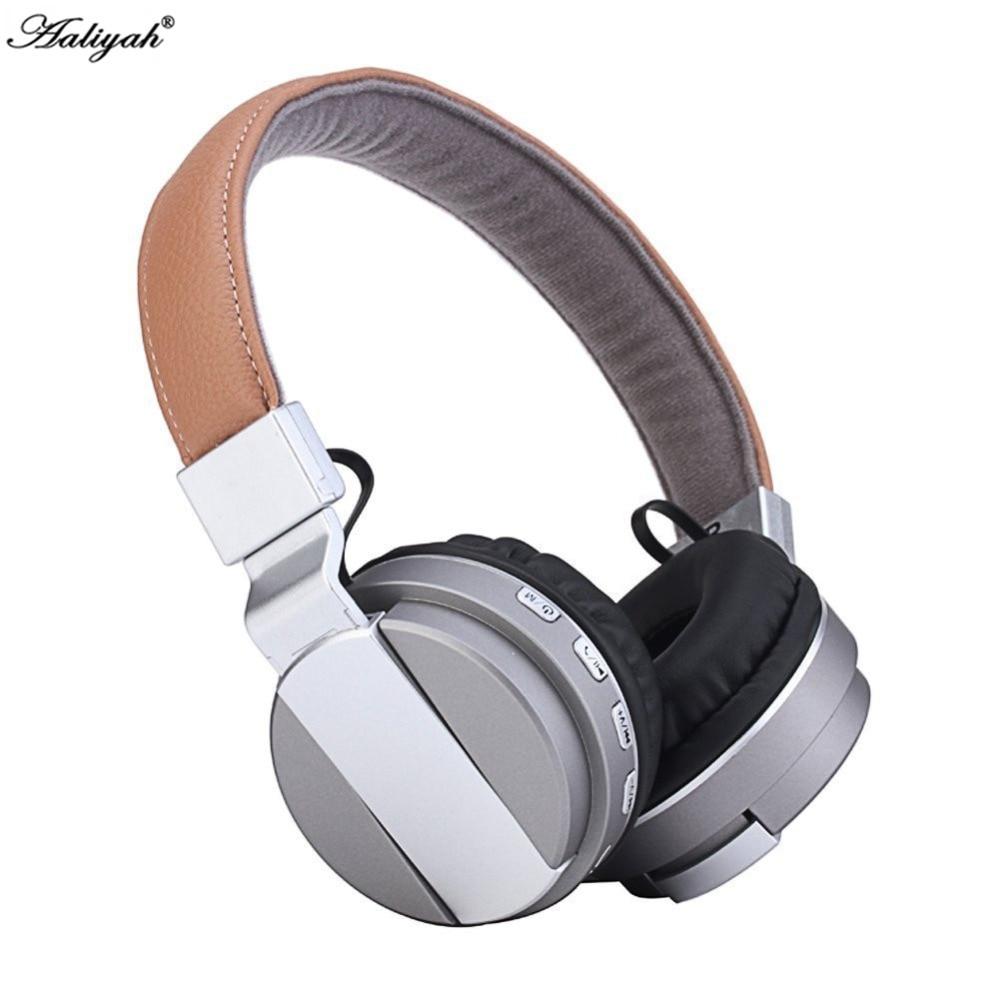 Aaliyah Bass Metal Foldable Headband Wireless Bluetooth Headphone With Mic Support TF Card Bluetooth 4.1 Headset Stereo Earphone