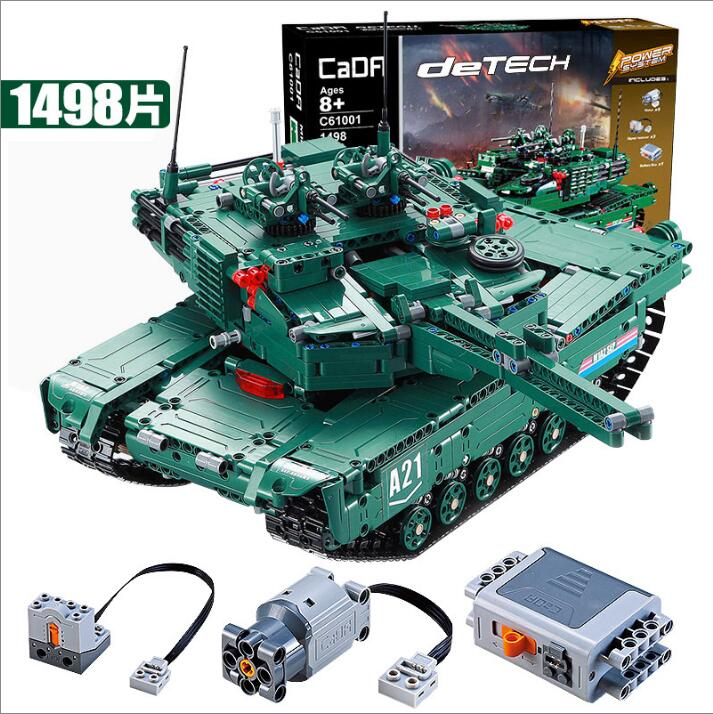1498pcs 2 Models M1A2 Tank /Cheetah Technic Military Remote Control RC Tank Building Block Brick Toy technican technic 2 4ghz radio remote control flatbed trailer moc building block truck model brick educational rc toy with light