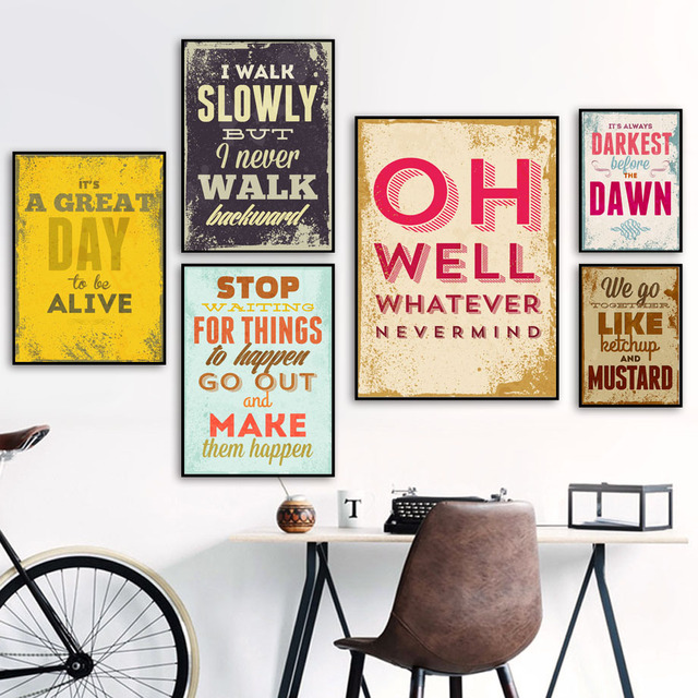 Motivational Quotes Nordic Posters And Prints Wall Art 1
