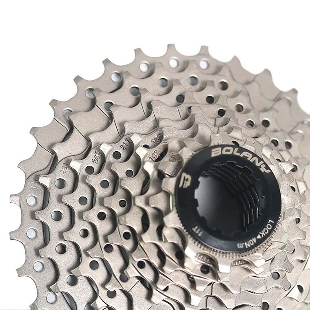 BOLANY Bicycle Freewheel 11-32T Steel 9 Speed MTB Road Bike Cassette Flywheel