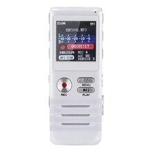 [Nueva Versión de Actualización] 8 GB Grabadora de Voz Audio Dictáfono Rechargeble Grabadora Digital con Reproductor de MP3 y Pantalla LCD USB