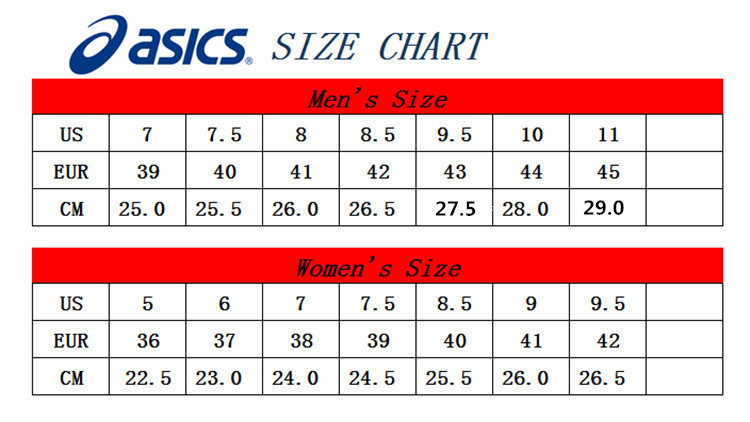 asics sneakers size chart Online Shopping for Women, Men, Kids ...