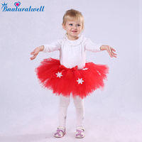 Bnaturalwell Baby Christmas Red Tutu Skirt Little Girls Bloomers Tutu Bloomers Holiday Outfit Photo Shoot Shower