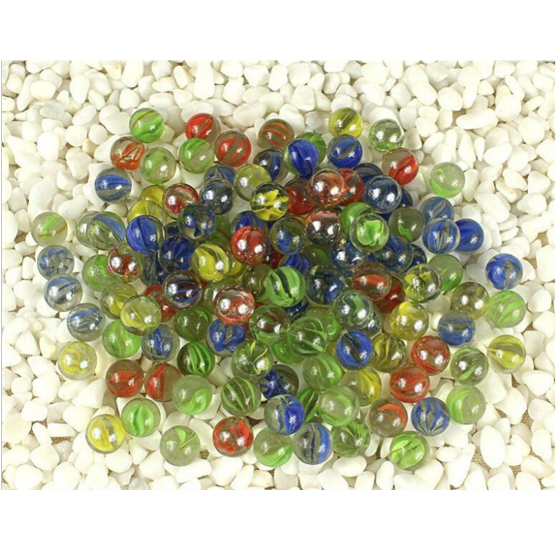 200pcs/lot Glass Marbles Pinball Machine Clear Balls Charms Vase Aquarium Home Decoration Toys For Kids Baby 14MM