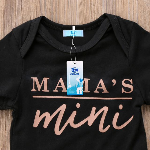 Newborn Baby Daddy Mama Onesies