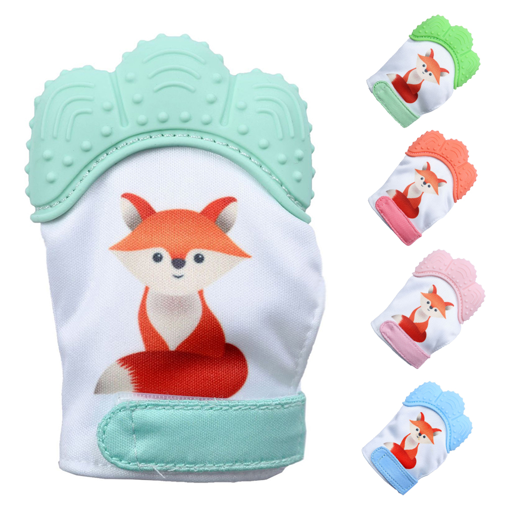 Food Grade Silicone Baby Teether Gloves Silicone Teether Gloves For 6 Months Infant Baby Dental Care Toothbrush Durable BPA Free
