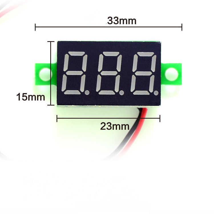DIY الأحمر الأزرق LED الرقمية البسيطة وحدة عرض DC2.5V-32V DC0-100V الفولتميتر جهاز قياس الجهد الكهربائي عداد لوحة قياس ل دراجة نارية سيارة
