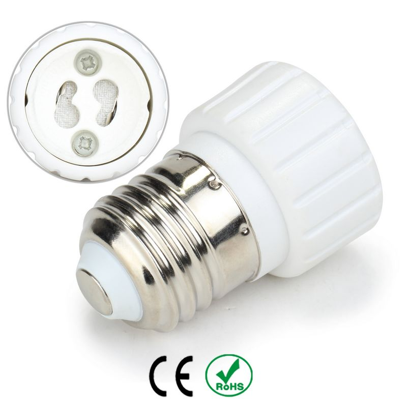 E27 to GU10 Lamp Holder Base Bulb Socket Adapter Fireproof Material Halogen LED Light Adapter Converter