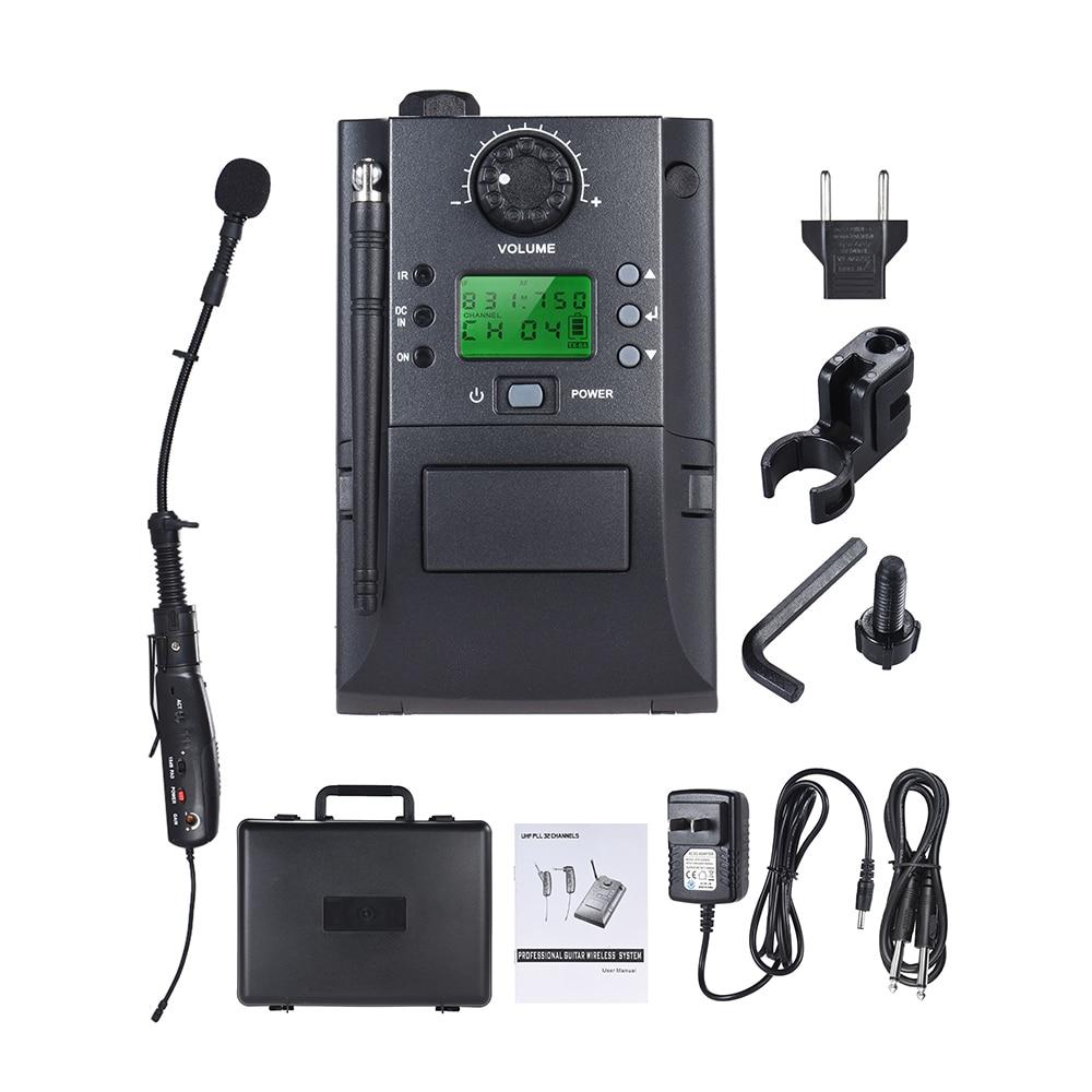 Strumento portatile UHF Sistema di Microfoni Wireless con Ricevitore e Trasmettitore 32 Canali per Sax Sassofono-in Microfoni da Elettronica di consumo su AliExpress - 11.11_Doppio 11Giorno dei single 1