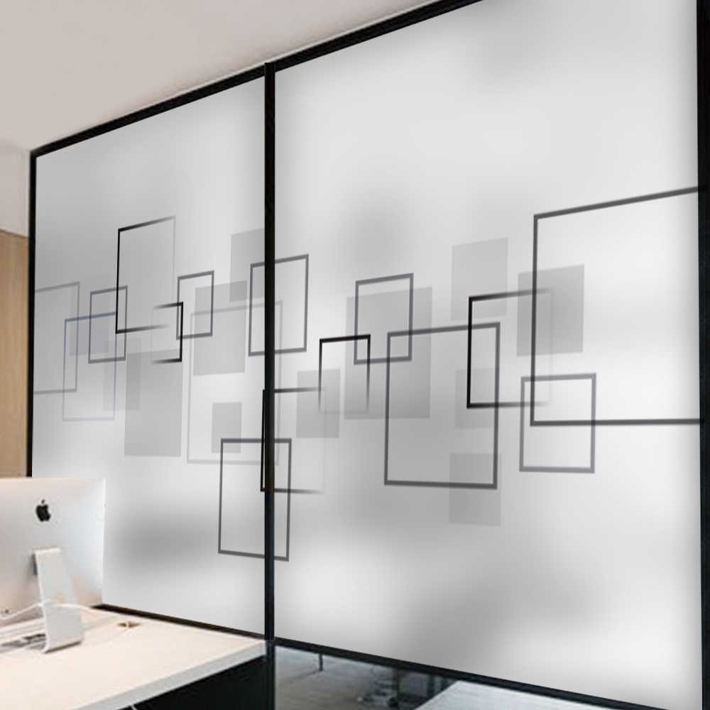 Abstract space geometry glass door and window sticker company partition glass stickers office meeting room electrostatic