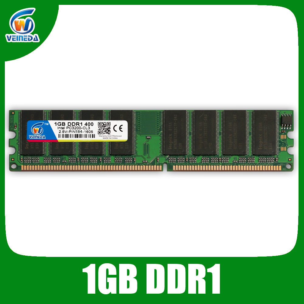 DDR 400 4GB 4x1GB PC3200 400MHz 184pin ddr1 Low Density Desktop Memory 2Rx8 CL3 DIMM Compatible