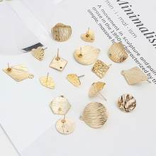 8 Style 10 Pcs Earrings Making Accessories Golden Distorted Oval Shape Earrings Base Connectors Linker For DIY Fashion Earring(China)