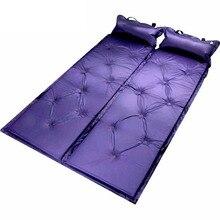 Кемпинг, складной Автоматический надувной матрас коврик может быть с Водонепроницаемый Self надувная подушка матрас с подушкой