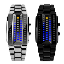New Lava Metal LED Watch Stainless Steel Band Digital Watch For Women Sports Watches Waterproof Military Watch