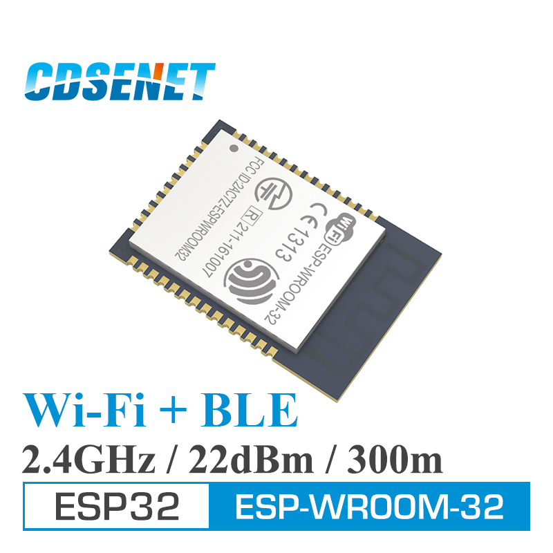ESP32 Wifi+Bluetooth Dual Core MCU 2.4GHz Wireless Rf Transceiver Low Power Ble 4.2 Transmitter 240MHz 4MB ESP-WROOM-32 Module