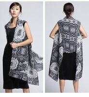 Miyake mouwloze onregelmatige size shawl geplooide blouse gratis verzending