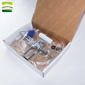 Image 4 - 2/5 ml Liên Tục ống tiêm Súng kim loại tự động ống tiêm kiêm bật lửa cho chăn nuôi động vật lợn Gà thuốc ngừa ống tiêm Bút cảm ứng hai đầu