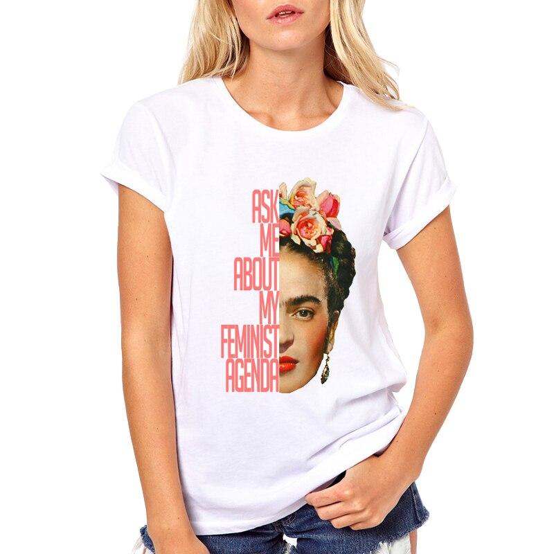 Hot Sale Cartoon Mexican Feminism   T     Shirt   Short Sleeve Women   T  -  shirt   Novelty Tee art Printed Casual   Shirts