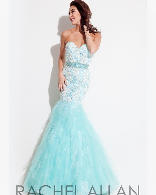 Beautiful Sweetheart Mermaid Lace Evening Dresses 2016 Powder Blue ...