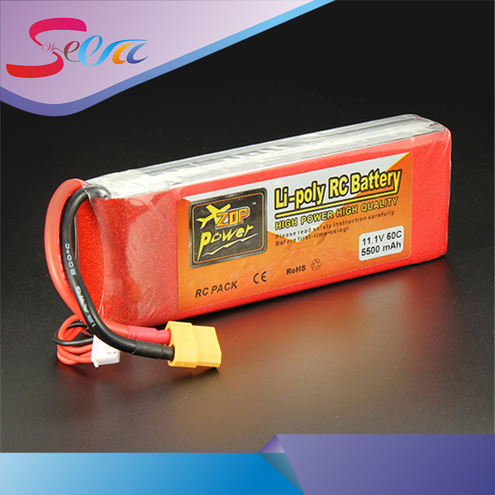 New Arrival ZOP Power 11.1V 5500mAh 3S 60C Lipo Battery XT60 T Plug Rechargeable Lipo Battery RC Battery For RC Helicopter Part high quality zop power 14 8v 2200mah 4s 45c lipo battery t plug rechargeable lipo battery for rc helicopter part