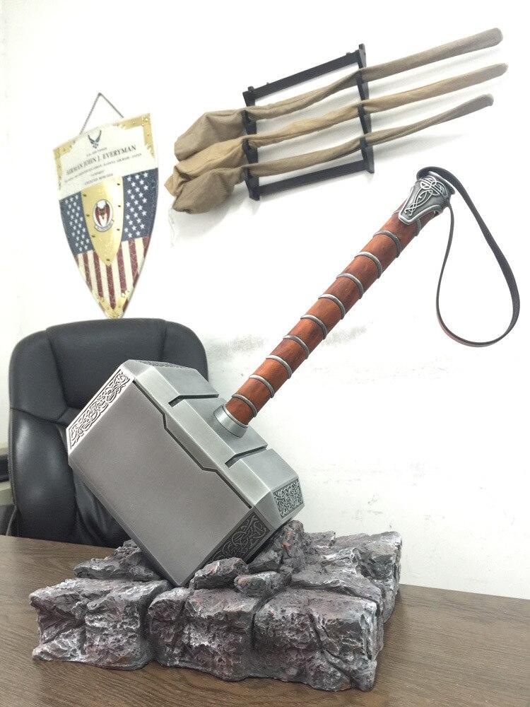 [Металл Сделано] коллекция косплей Мстители Тор 1:1 моделирование молоток игрушка костюм для детей, взрослых вечерние Тор молоток Реплика мо...
