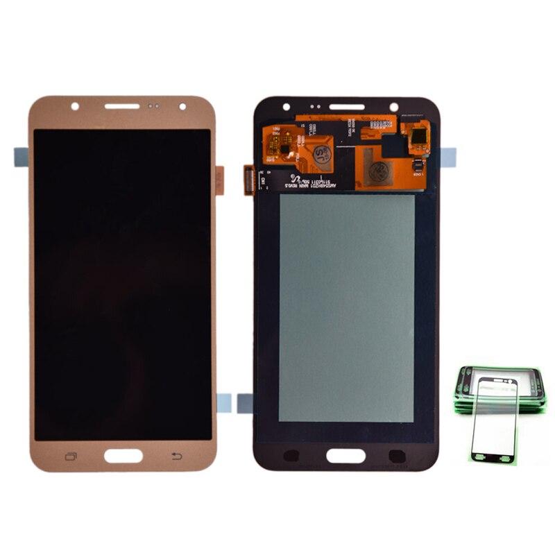 5.5 Super AMOLED LCD D'origine pour SAMSUNG Galaxy J7 2015 Affichage J700 Tactile Écran pour SAMSUNG J7 2015 J700 j700F J700M J700H