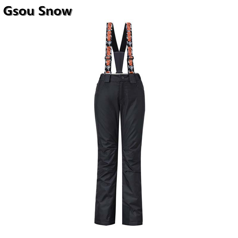 GSOU SNOW Brand Ski Pants Women -30 Degree Snowboard Pants Waterproof Breathable Winter Outdoor Trousers for Skiing Snowboarding gsou snow brand women ski pants