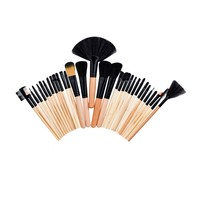 24 32 Pcs Makeup Brushes Soft Cosmetics Eyebrow Shadow Powder Pinceaux Brush Set Fashion