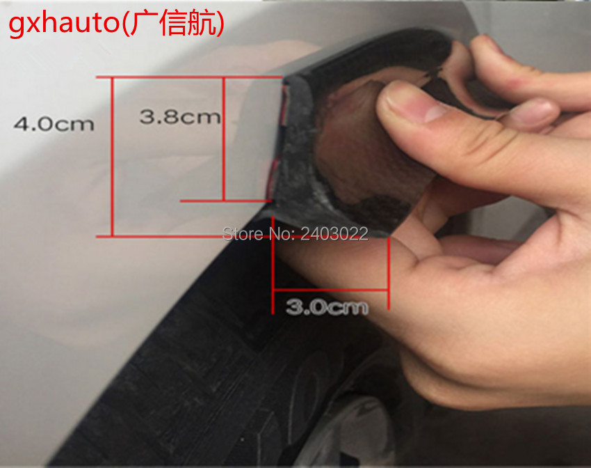 3Meter*4cm widen car rubber fender flare mudguard trim for 2 tires wheel arch fender flare fit for Nissan X trall