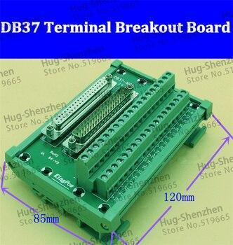 D-SUB db37 masculino/fêmea cabeçalho breakout board, bloco de terminais, conector