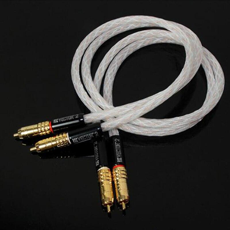 Hifi coppia TARA Labs RSC Vector 2 HIFI Interconnessione cavo Audio con placcato Oro spina del RCAHifi coppia TARA Labs RSC Vector 2 HIFI Interconnessione cavo Audio con placcato Oro spina del RCA