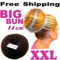 Venta al por menor Grandes bollo 14 CM 3-Color princesa donuts albóndiga headwear accesorio para el cabello diadema Envío Libre Al Por Mayor