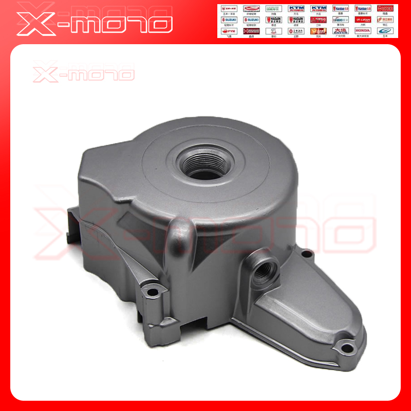 2 Poles Upper <font><b>Engine</b></font> Magnetor Side Cover 50CC <font><b>70CC</b></font> 110CC 125CC Taotao ZongShen <font><b>Lifan</b></font> Dirt Bikes Pit Bike Parts ATV Quad Parts image