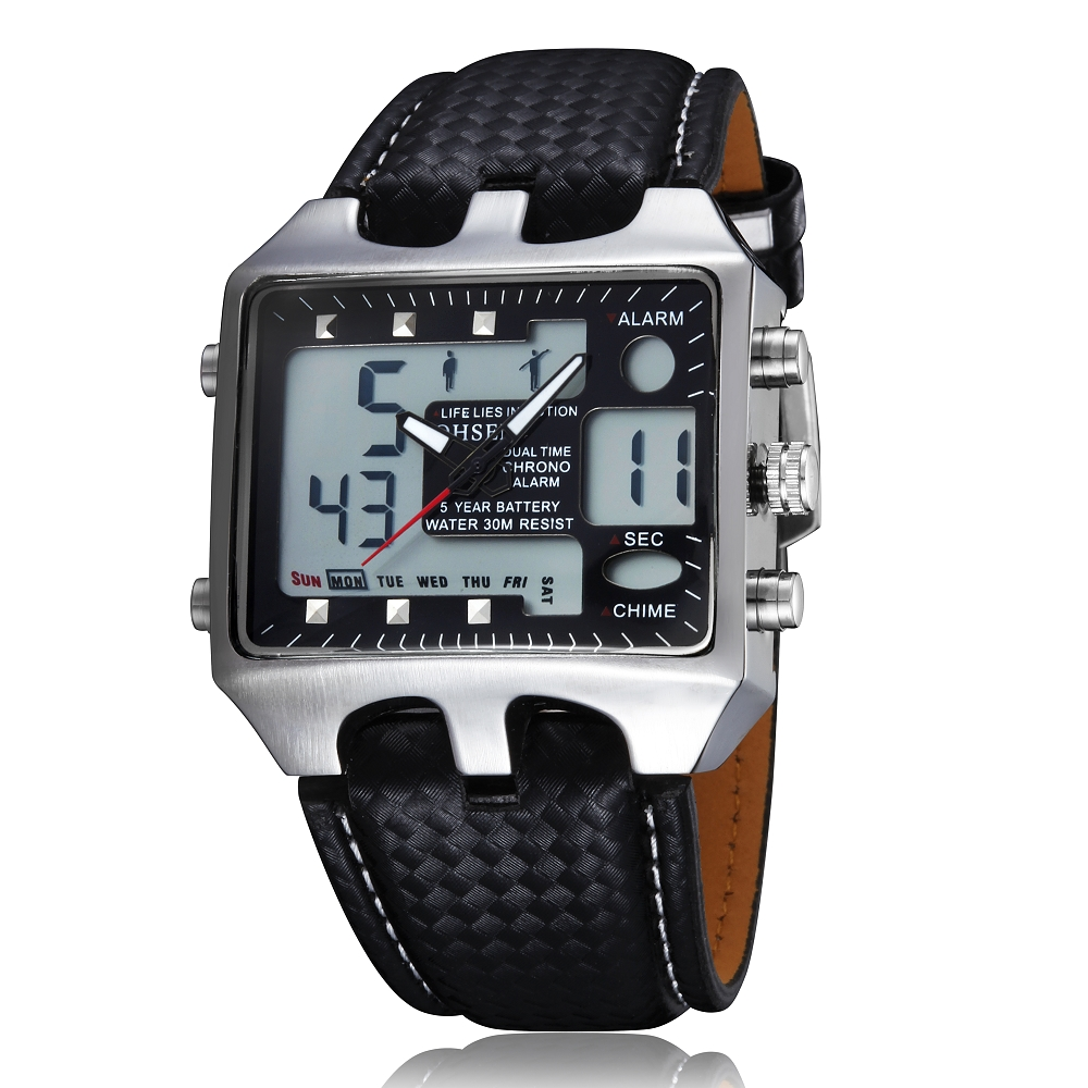 2017 New Men Sport Watches Analog Digital Quartz 3ATM Waterproof Dive Fashion Military Wrist Watch Relogio Male Clock Gift