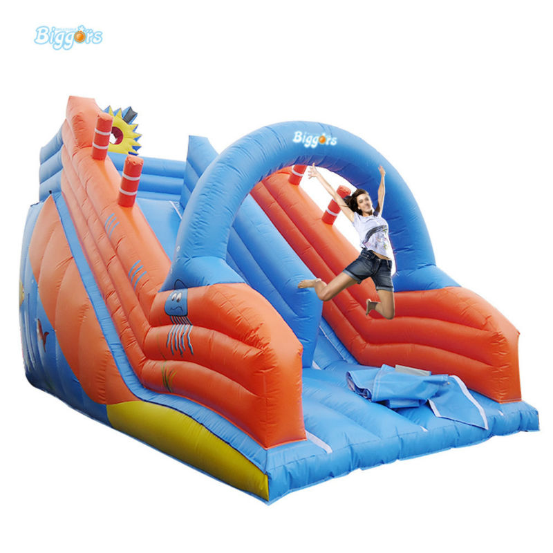 7*4*4m Size Inflatable Dry Slide Commercial Grade PVC Slide Inflatable Giant Slide For Sale