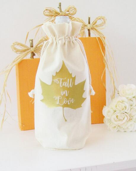 fall in love maple wine bags hostess host thank you gifts champagne party wedding gift