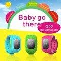 GPS Relógio Rastreador Para Crianças SOS Emergência Anti Perdido Pulseira Pulseira Q50 Wearable Dispositivos scree OLED para Aplicativo de Telefone Inteligente