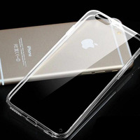 AiSMei Silicone Luxury Soft Clear TPU Case For IPhone 5s SE 5 Case For IPhone 6