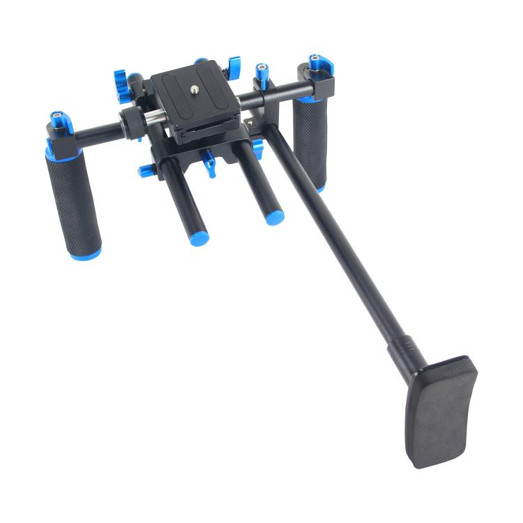 DSLR Rig Double-hand Handgrip Shoulder Mount Rig and Shoulder Mount Rig Shoulder Pad for DSLR Cameras , and DV Camcorders ylg0102h dslr shoulder mount support rig with camera camcorder mount slider shoulder lift set double hand handgrip holder set