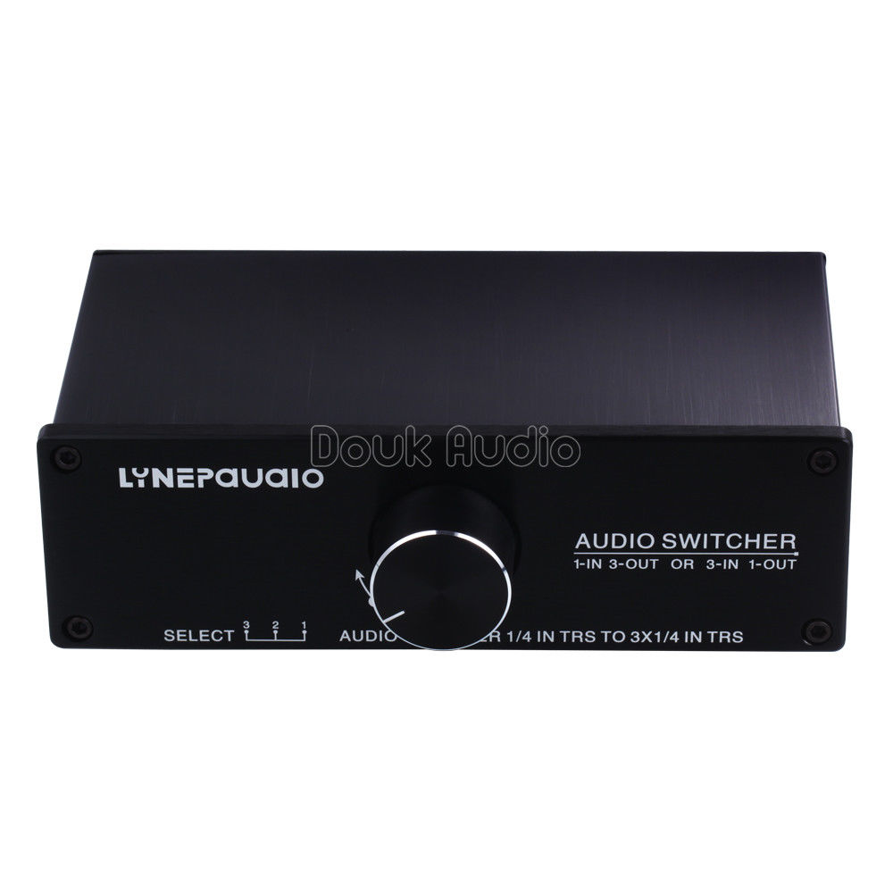1/3-IN 3/1-OUT Audio Switcher Passive Preamp Stereo Speaker Distributor Selector1/3-IN 3/1-OUT Audio Switcher Passive Preamp Stereo Speaker Distributor Selector