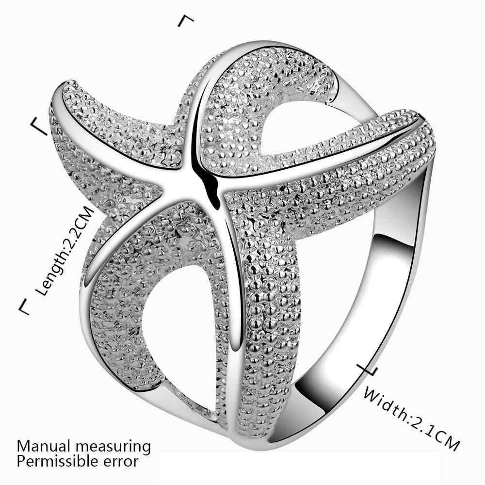 Простое кольцо со звездами кольца из стерлингового серебра 925 для женщин ювелирные изделия Анель Anillos Aneis ювелирные изделия Анель Анильо любовь подарок A224