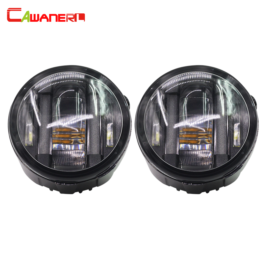 Cawanerl 2 X Car Styling LED Fog Light Daytime Running Lamp DRL 12V For Nissan Versa X-Trail Juke