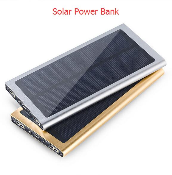 Solar powerbank 50000mAh power bank portable 2 usb solar charger for iPhone ipad Samsung Sony PK xiaomi power bank