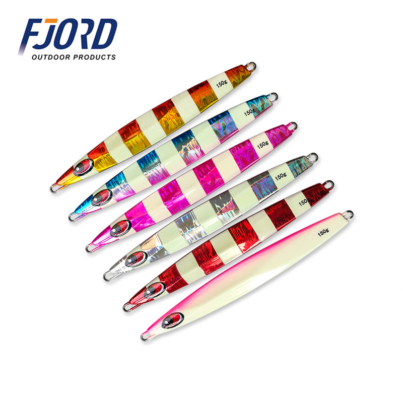 FJORD 150g/200g/250g/300g Metal Jigging Speed Sinking Slow Shake Imported Laser Baits Deep Sea Fishing Lead Fishing Jig Lures 95g 200g je lead metal sinker jigging lure slow pitch sinking jig deep sea artificial fishing bait saltwater ocean trolling