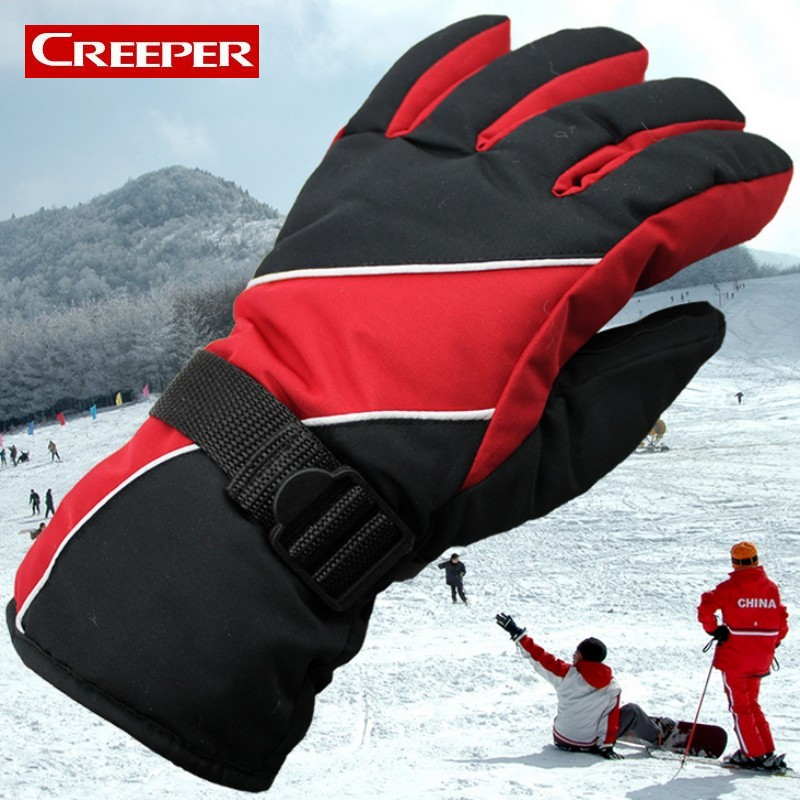 Winter Thermal Ski Gloves Waterproof Cold Resistant Snowboard Gloves Mens Guantes For Skiing Snowboarding Snowmobile Luvas
